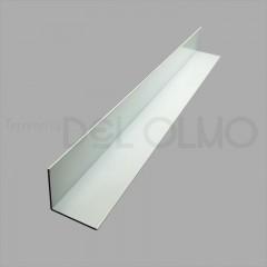 Ángulo aluminio lacado blanco