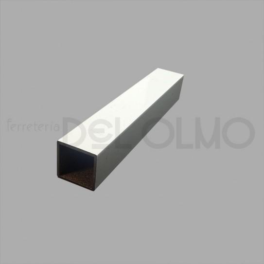 Tubo cuadrado aluminio blanco