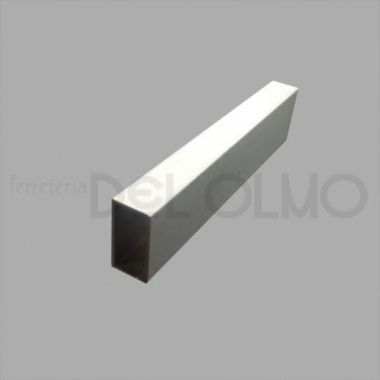 Tubo rectangular aluminio blanco