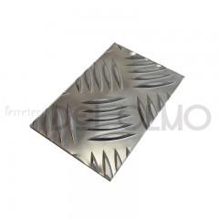Chapa aluminio damero