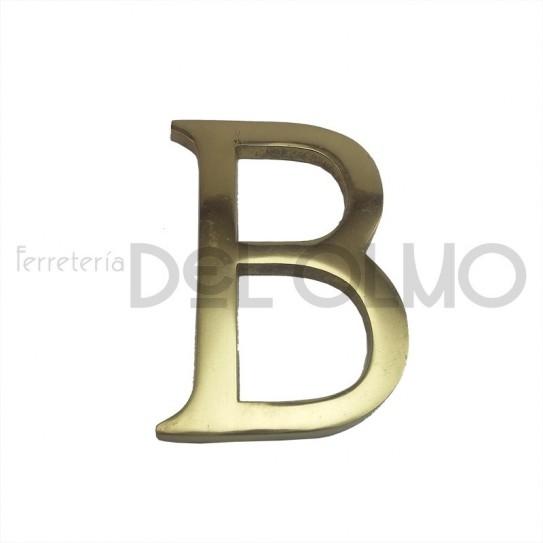 Letra B latón