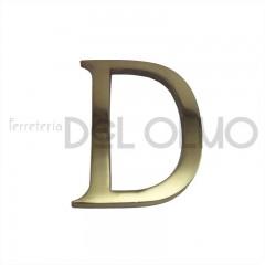 Letra D latón