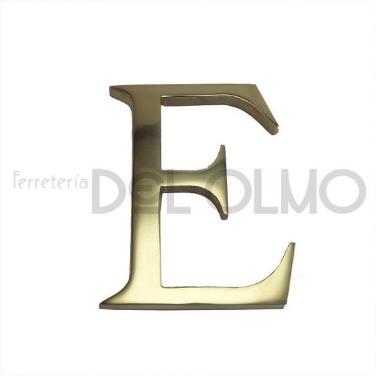 Letra E latón