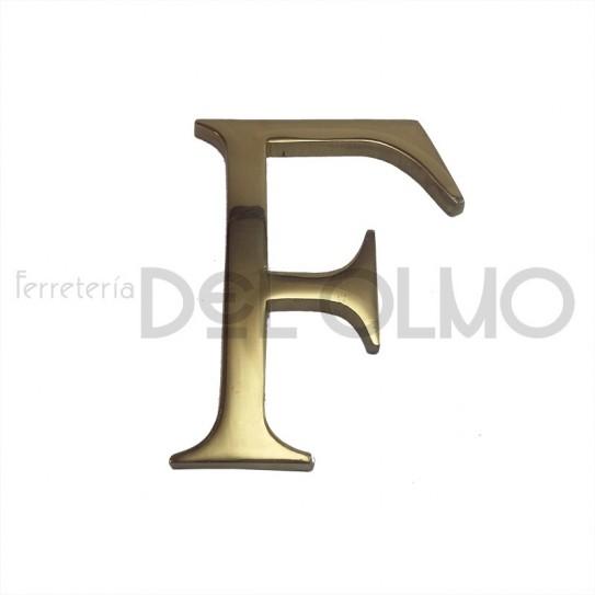 Letra F latón