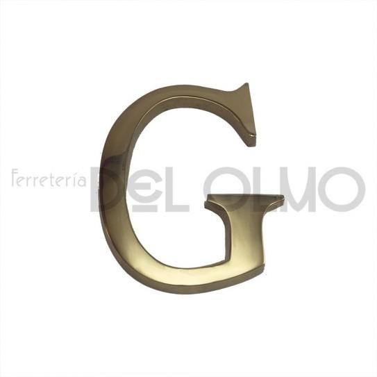 Letra G latón
