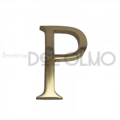 Letra P latón