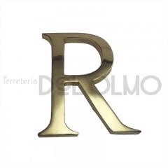 Letra R latón