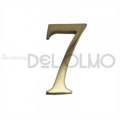 Número 7 latón