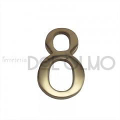 Número 8 latón