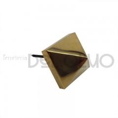 Clavo latón piramide