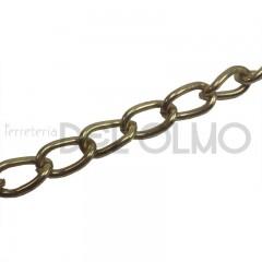 Cadena hierro latonado retorcida